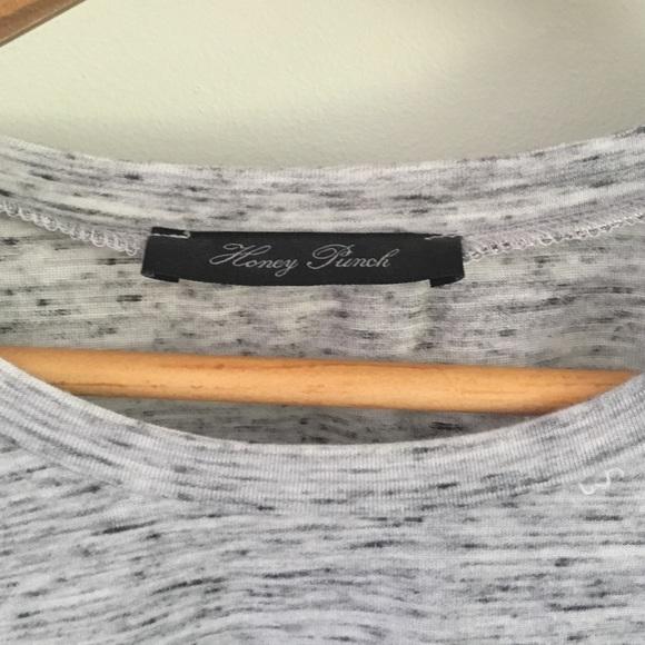Tops - Marled gray tee shirt