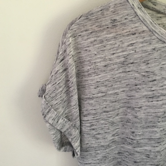 Tops - Marled gray tee shirt