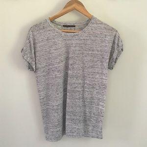 Marled gray tee shirt