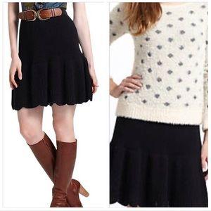 Anthropologie black sweater skirt