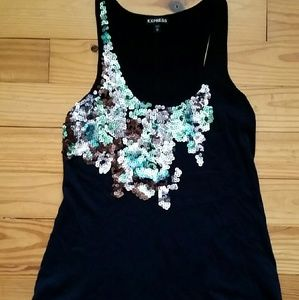 Sequined Express Tank Top XS