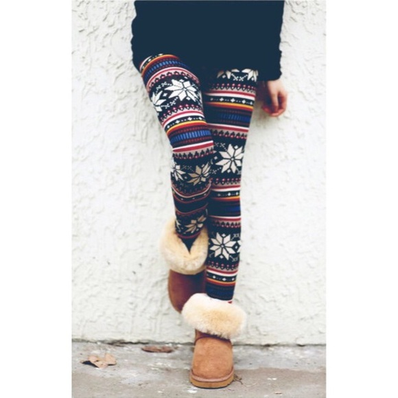 b7e6b0241bdb13 COUTURE GYPSY Pants   Fair Isle Nordic Snowflake Legging Os   Poshmark