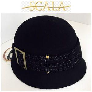 Final❤ Scala Collezione Black Wool Hat