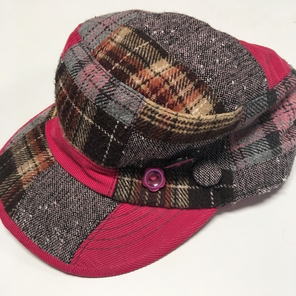 Mudd Patchwork Conductor Style Hat 9dd66214d31