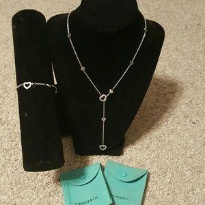 Authentic Tiffany Lariat necklace & bracelet
