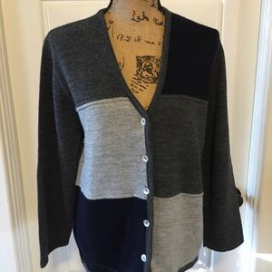 Cotton Forever Sweaters - Colorblock Cardigan