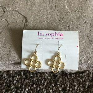 Iia sophia Jewelry - Gold dangle lia Sophia earrings