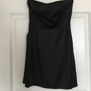 Black Label Strapless Satin Mini-Dress