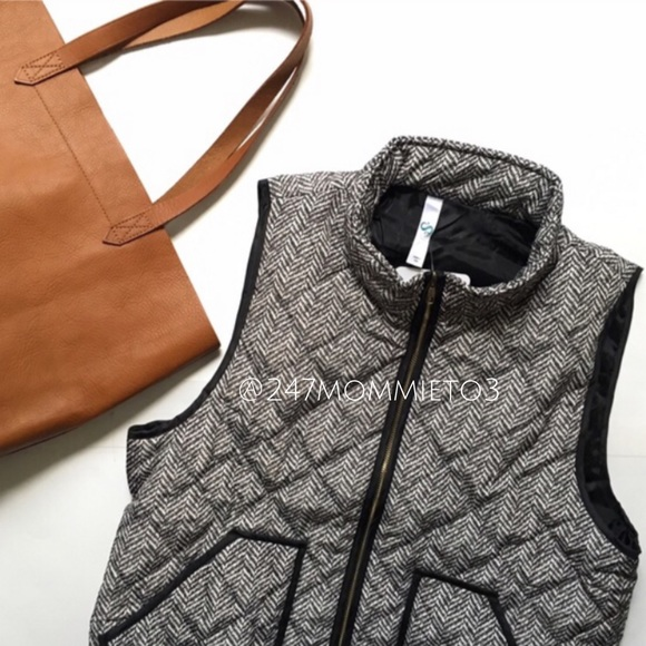 Infinity Raine Herringbone Quilted Puffer Vest From