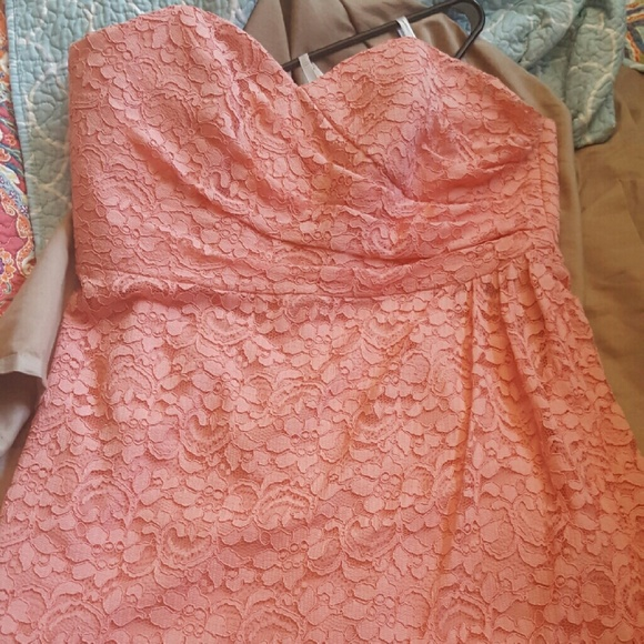 Short Coral Lace Dress