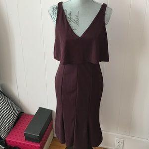 Sexy v-neck midi dress