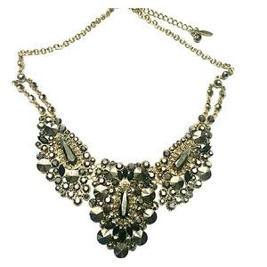 Natasha bold statement necklace brown gold