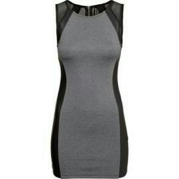 591424fda0f H&M Divided gray bodycon dress