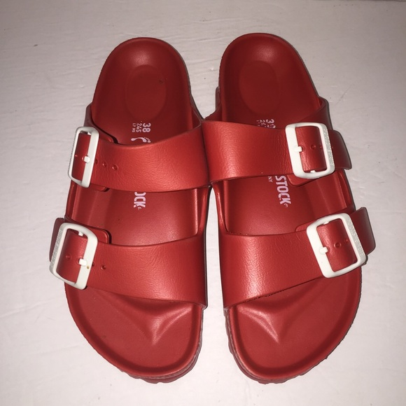 535be1e8262c Birkenstock Shoes - Birkenstock Red Plastic Arizona Sandal 7 38