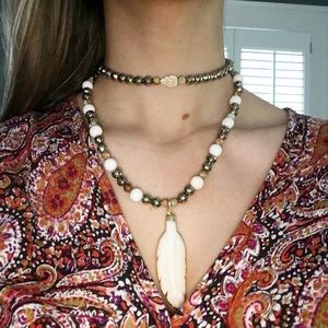 Feather Necklace and Choker