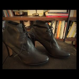 Repetto Shoes - Repetto Black Leather lace-up heals