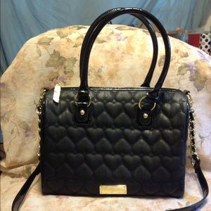 BIG Betsey Johnson Quilted Purse!