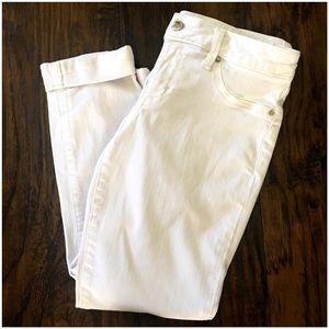 bebe Denim - BEBE: White Capri Jeans Sz: 29