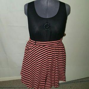 torrid Dresses & Skirts - TORRID ROSE/BLACK STRIPE SKATER SKIRT