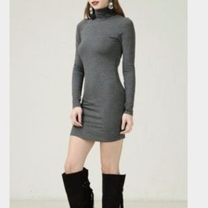 ANGL Dresses & Skirts - Long sleeve grey turtle neck body con. Worn once