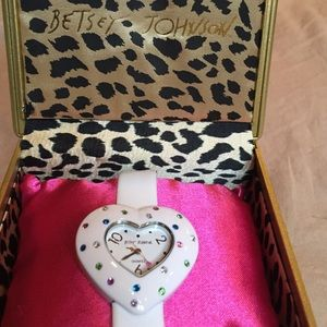 Betsey Johnson heart shape watch