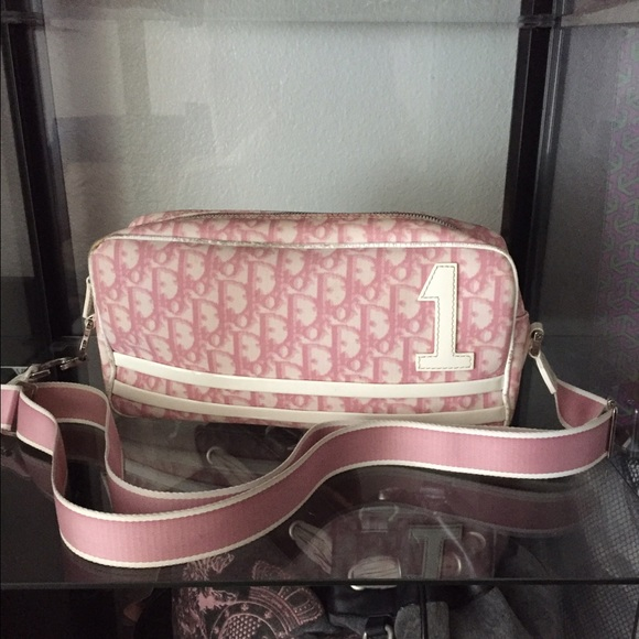 1e0bac772fd0 Christian Dior Handbags - Christian Dior Vintage pink canvas cross body bag