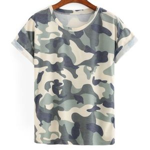 Tops - Faded Campuflage Tshirt