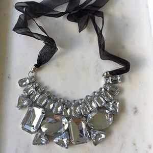 Crystal Ribbon Statement Necklace