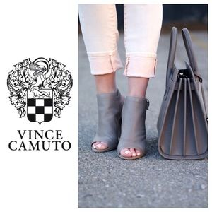 NEW!  Vince Camuto Camey suede peep toe booties