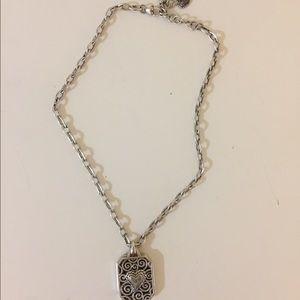Brighton Jewelry - Brighton Sterling Silver Chain Statement Necklace