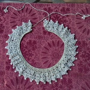Jewelry - Antique beaded and crocheted necklace REDUCED