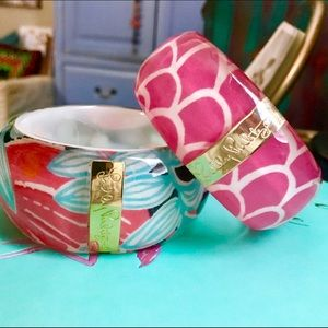 Lilly Pulitzer Jewelry - 🌺SALE🌺(SET) Lilly Pulitzer Lucite Bangles *Rare*
