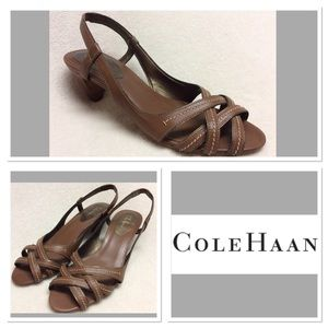 Cole Haan Shoes - 8.5B COLE HAAN brown leather slingbacks