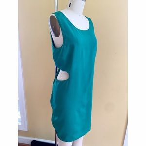Emerald Green Dress with Cutouts