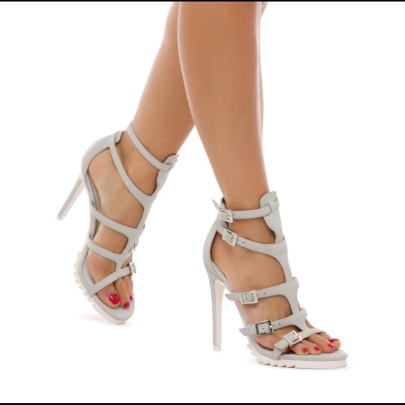59% off Shoes - Grey gladiator heels from Isabella's closet on ...