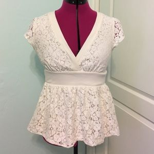 Forever 21 Tops - Forever 21 Cream Lace Top