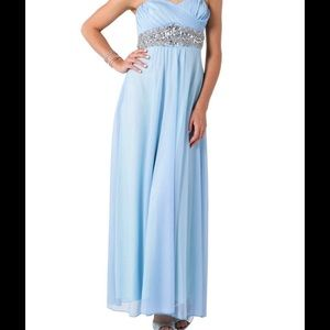 Sequin Hearts Dresses & Skirts - Strapless embellished waist gown