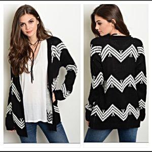 ✨SALE Chevron knit slouchy cardigan sweater Small