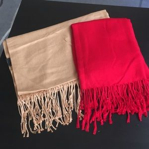 Accessories - Gold & Red Pashmina Bundle