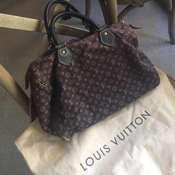 bf303272d26 Louis Vuitton Handbags - Louis Vuitton Brown Ebene Speedy Mini Lin 30