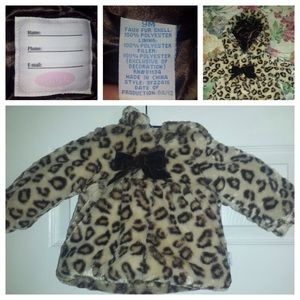 Bon Bebe Other - 9 mos Cheetah print faux jacket