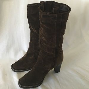 Via Spiga suede brown boots size 7