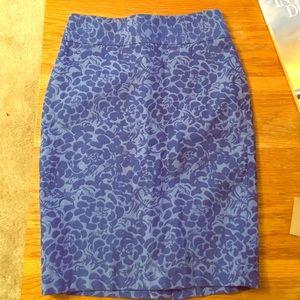✨ Floral blue skirt