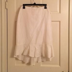 Banana republic white linen skirt