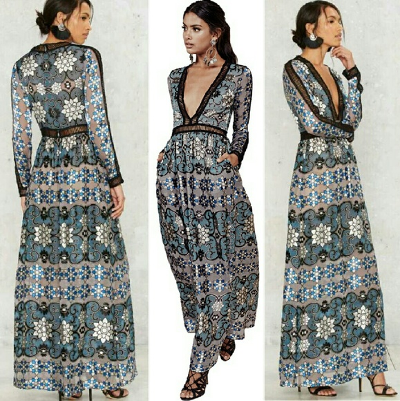 1f310adc45d New for love   lemons juliet maxi dress blue jade