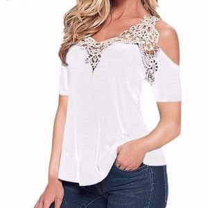 Tops - Elegant and Sexy Off Shoulder White Short Sleeves