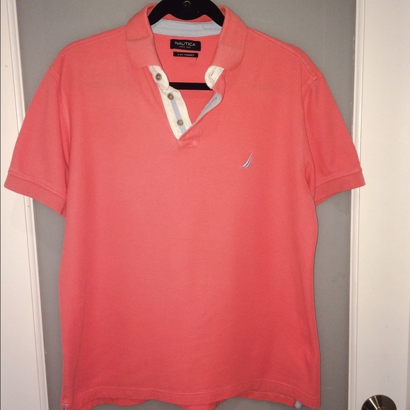 79% off Nautica Other - Nautica Mens Polo Shirt. Coral color. from ...