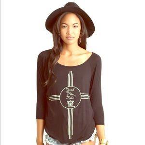 Neoclassics Tops - 🎀Black Good Vibe Shirt by Neoclassics🎀