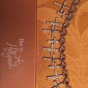 Hot in Hollywood silver Cross Bracelet