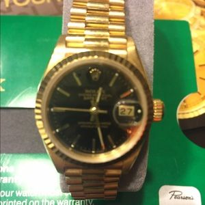 Rolex Accessories - Ladies 18k Rolex Oyster Perpetual watch Authentic!